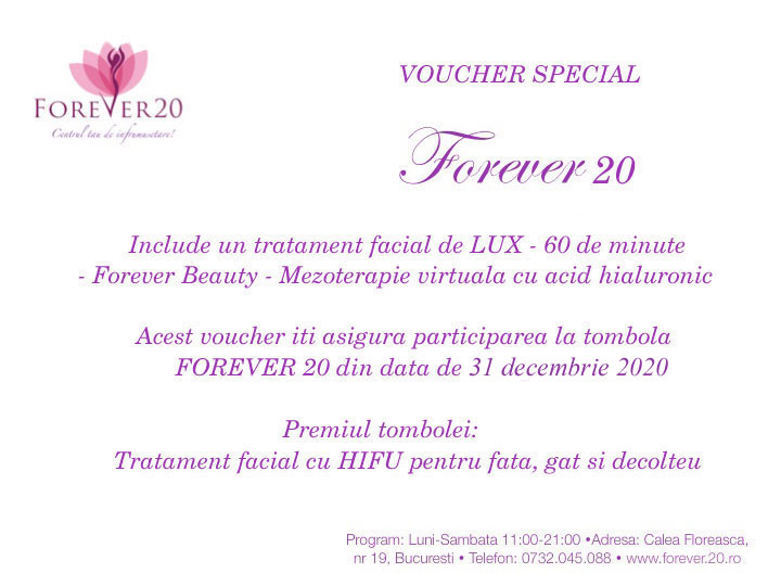 voucher special forever20 beauty card